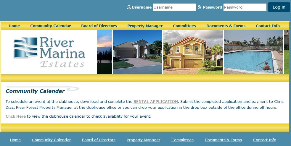 Homeowners Associations Web Design