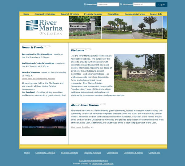 Florida HOA Website Design