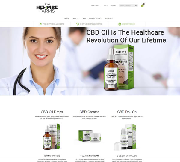 Shopify Ecommerce CBD Oil Web Designers