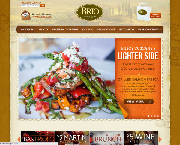 Websites for restaurants, bars and catering