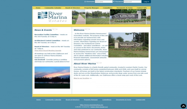 River Marina Estates Home Owners Association